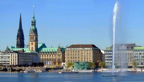 Hamburg Panorama / Alster / alster lake
